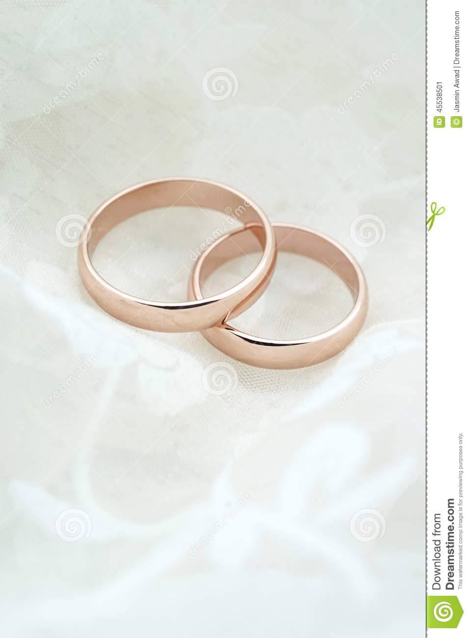 Wedding Invite With Rose Gold Rings Stock Photo  Image 45538501
