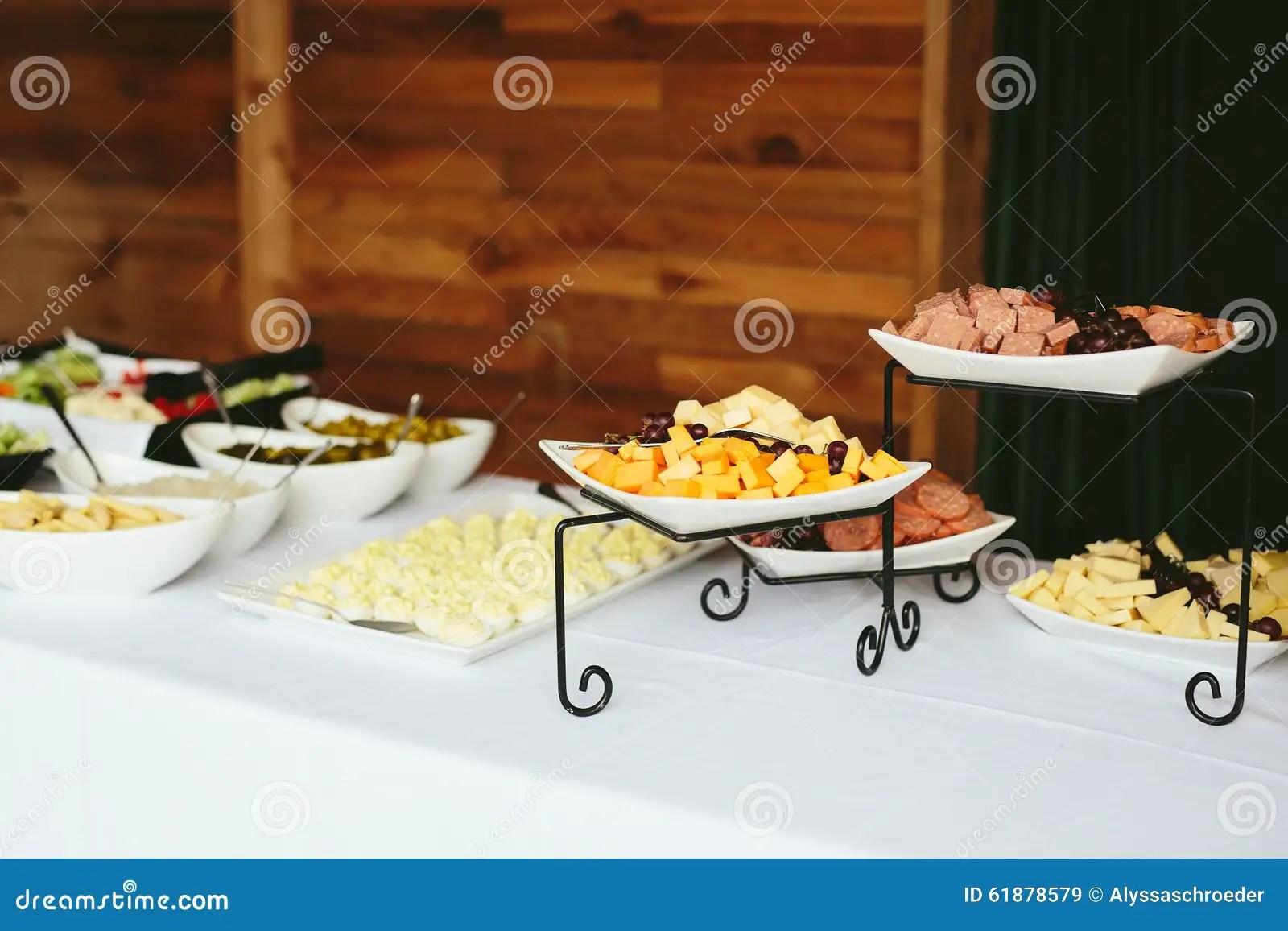 Wedding Reception Dinner Food Buffet Stock Photo Image