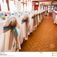 Wedding Decorations Chairs Receptions Ultimate Game Chair Gaming Reception Place Ready To Receive Guests Stock Image