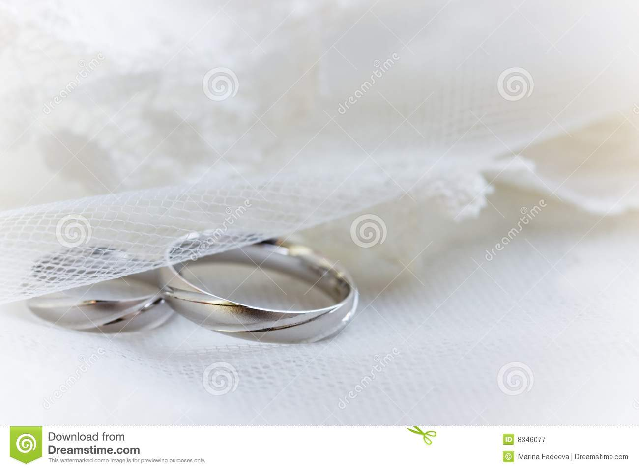 Wedding Rings On A Lace Background Stock Image Image