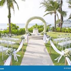 Outdoor Dream Chair Ergonomic Under 500 Wedding Set Up In Garden Inside Beach Stock Photos - Image: 37352173