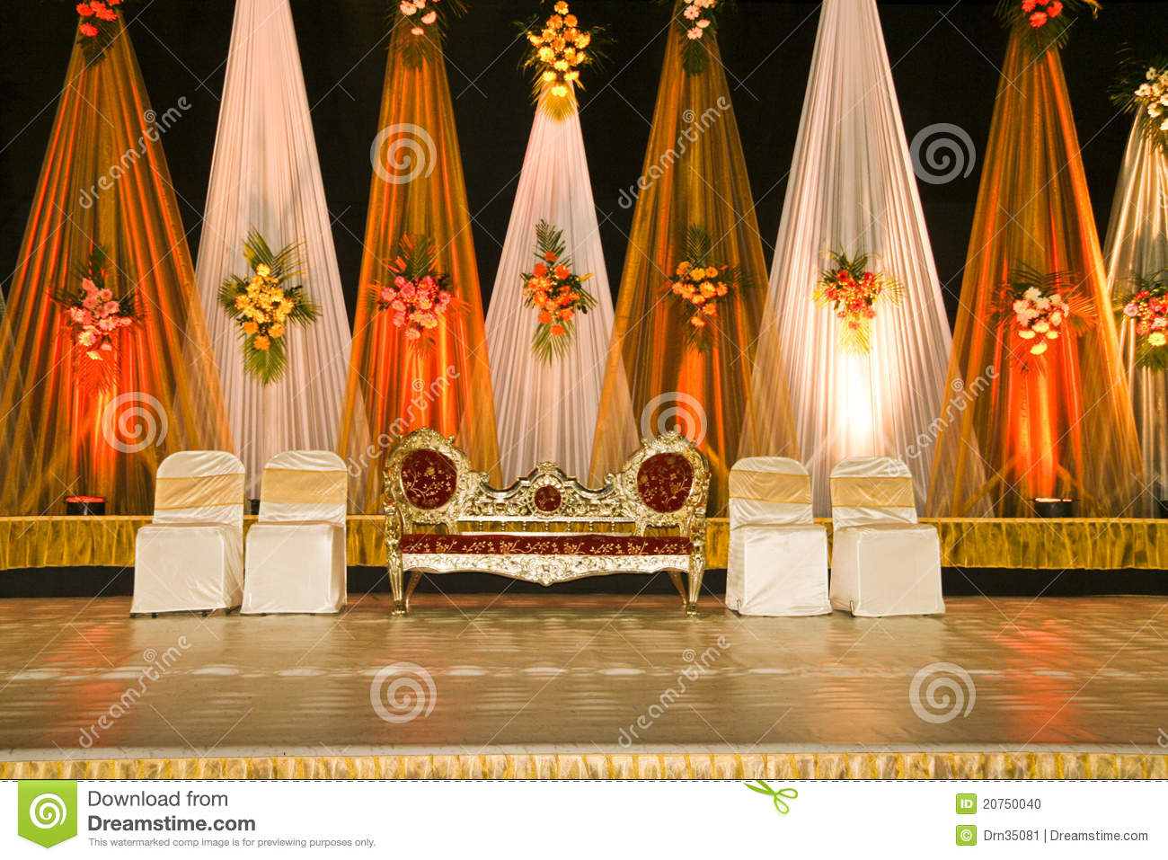 wedding stage chairs memory foam chair pads 03 stock photo image of colorful