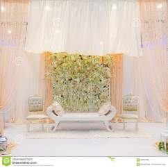 Wedding Stage Chairs Ikea Furniture Stock Photo Image Of Flowers India