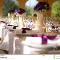 6 Chair Dining Table And Hire Wedding Stock Photo. Image Of Beautiful, Hotel - 11436300