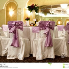 White 6 Chair Dining Table Clear Room Covers Wedding And Chairs In A Banquet Ballroom Stock Photo - Image: 17035218