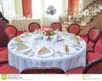 Wedding Table Setting. Table Set For An Event Party Or ...