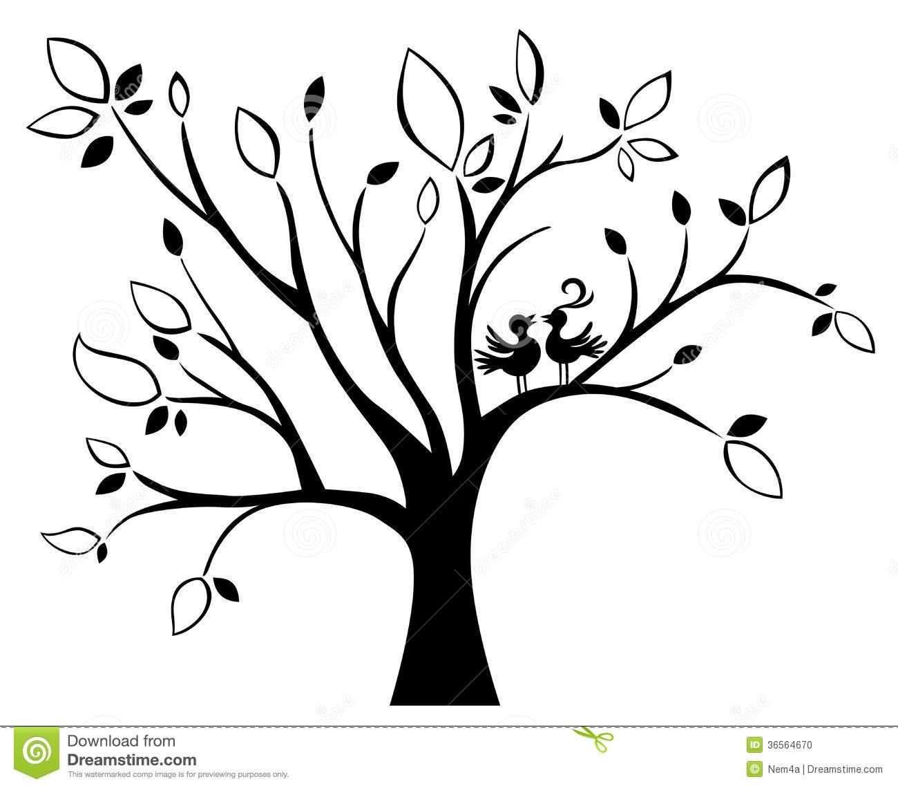Wedding tree stock vector Illustration of celebration