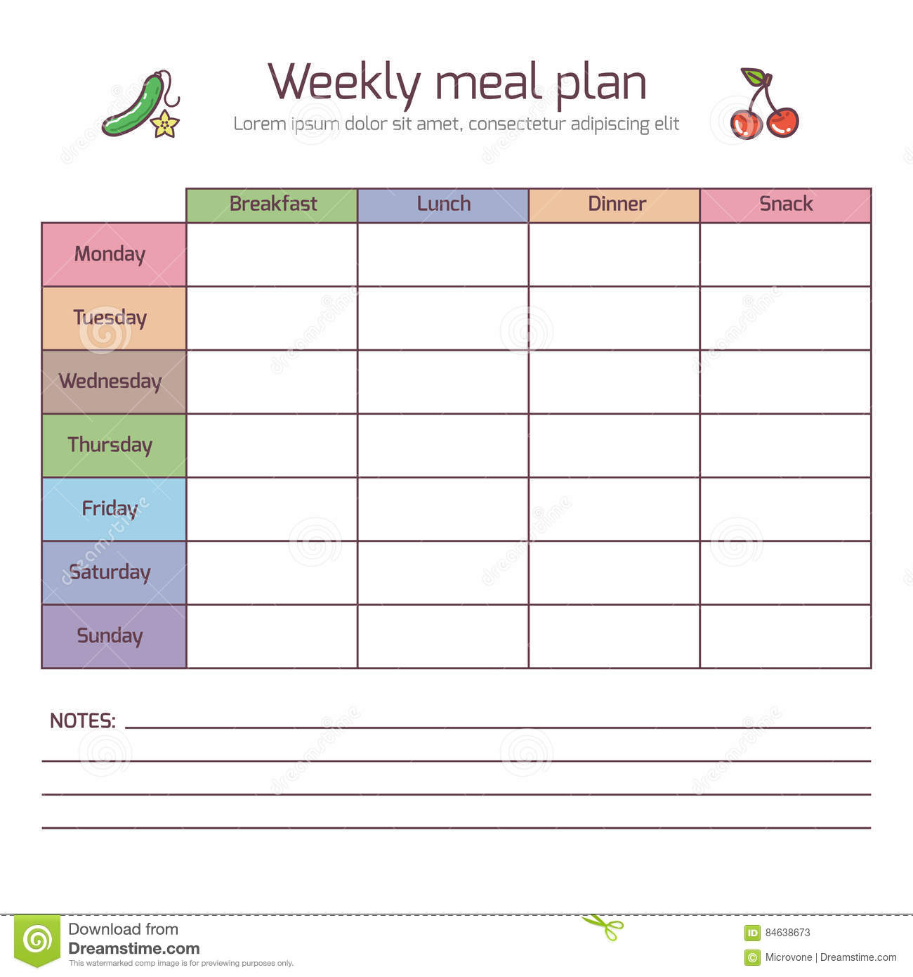 Plan A Healthy Meal Worksheet