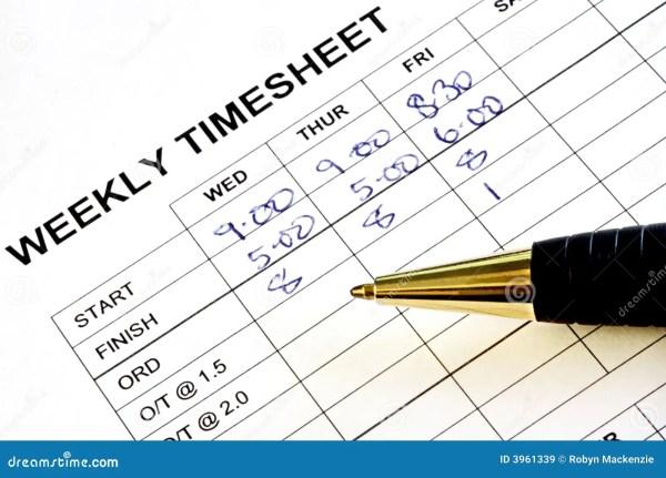 weekly timesheet stock