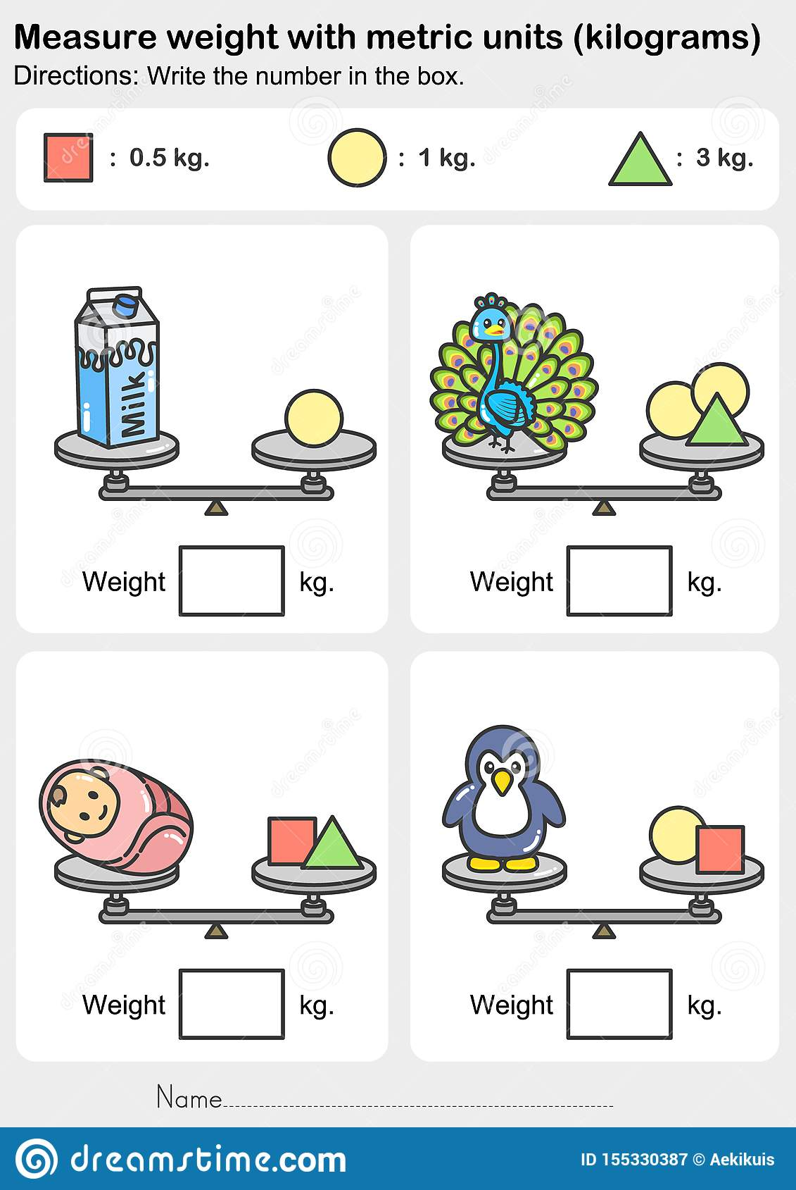 Weight Measurement Worksheet