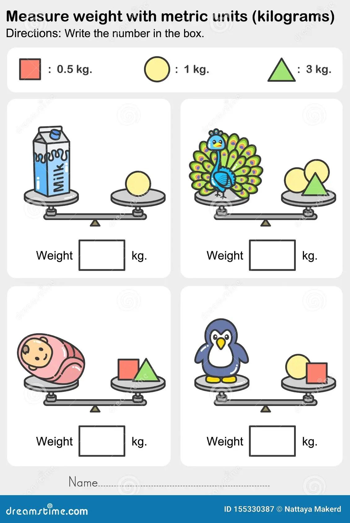 Weight Measurement Worksheet