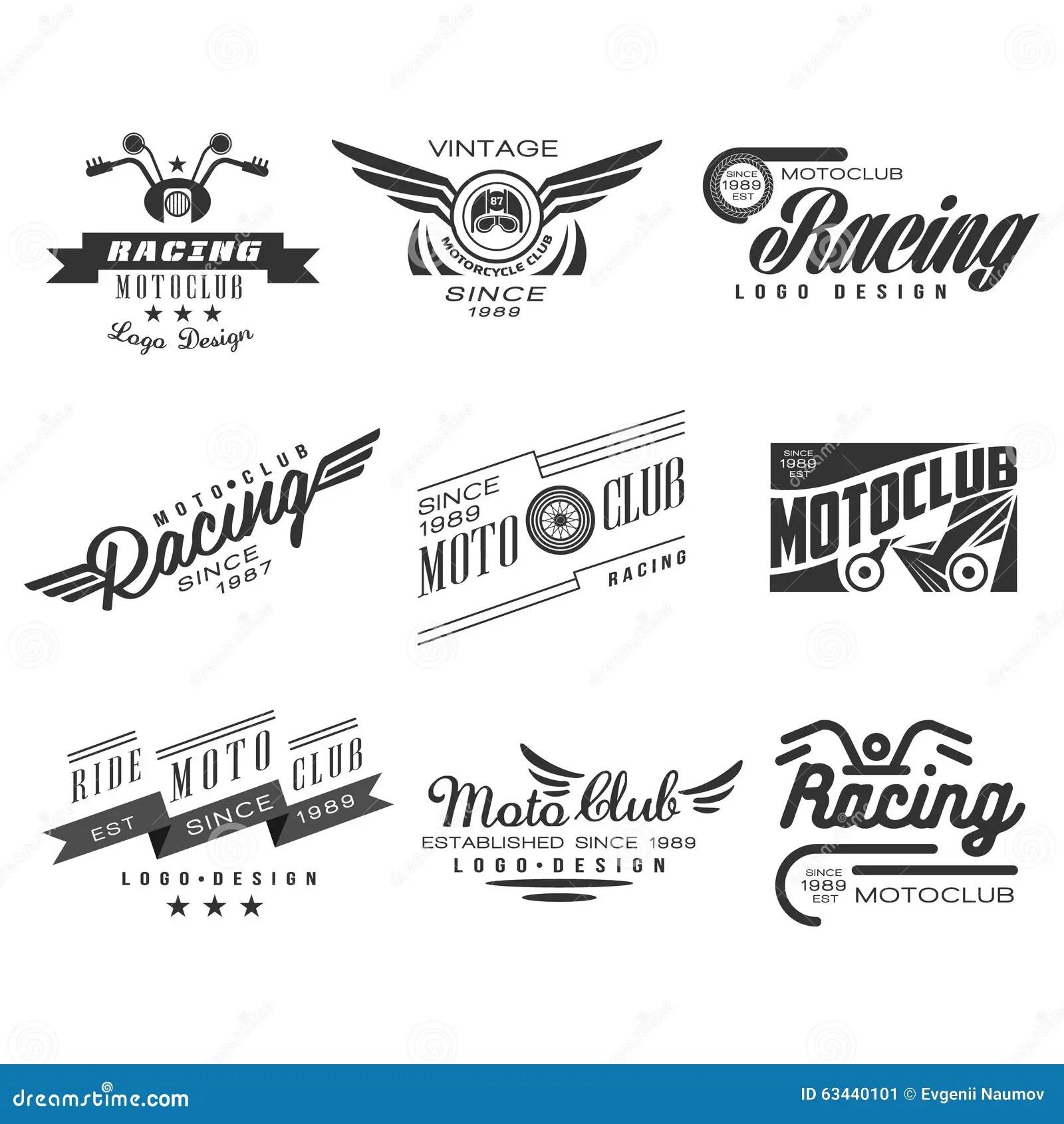 Weinlese Motorrad Aufkleber Ausweise Text Und Design