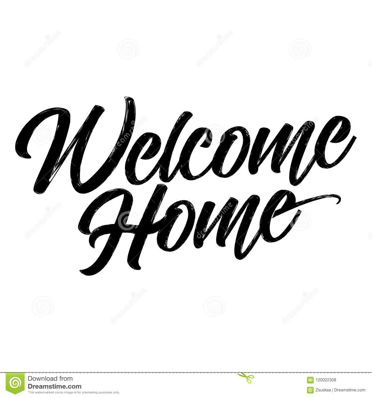 Welcome Home stock vector. Illustration of indoor, forward