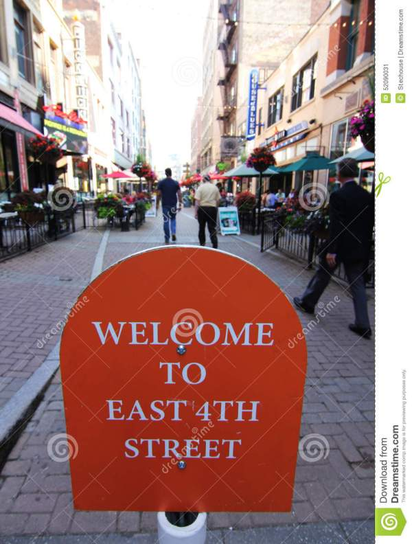 East 4th Street Cleveland Ohio Stock
