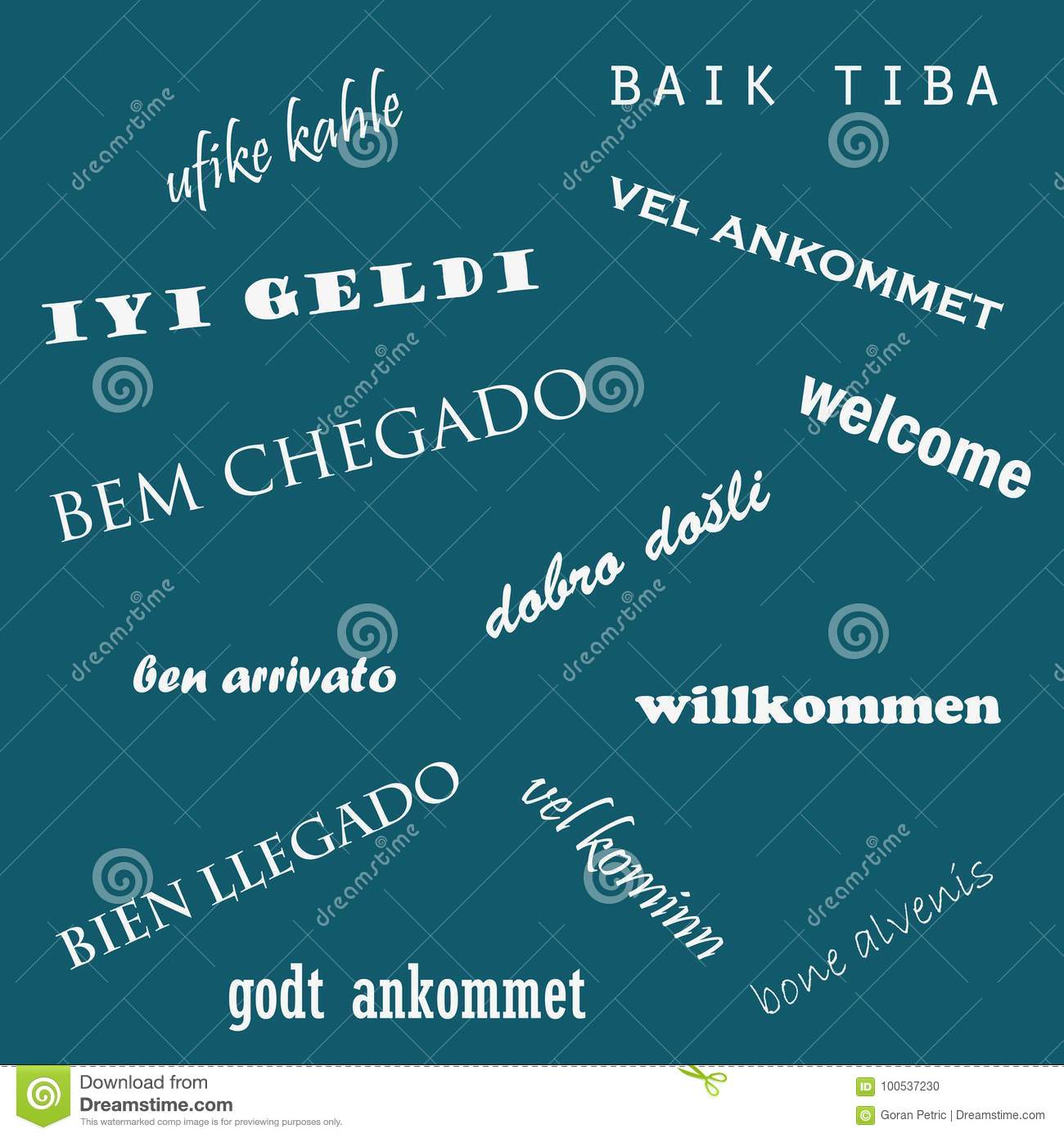 Welcome Word Cloud In Different Languages. Language Day Stock Vector - Illustration of translation. japanese: 100537230