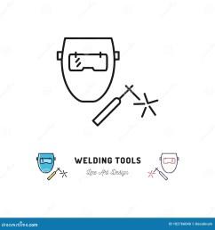 welding tools icon welding machine and welder mask vector thin line art symbol [ 1300 x 1390 Pixel ]