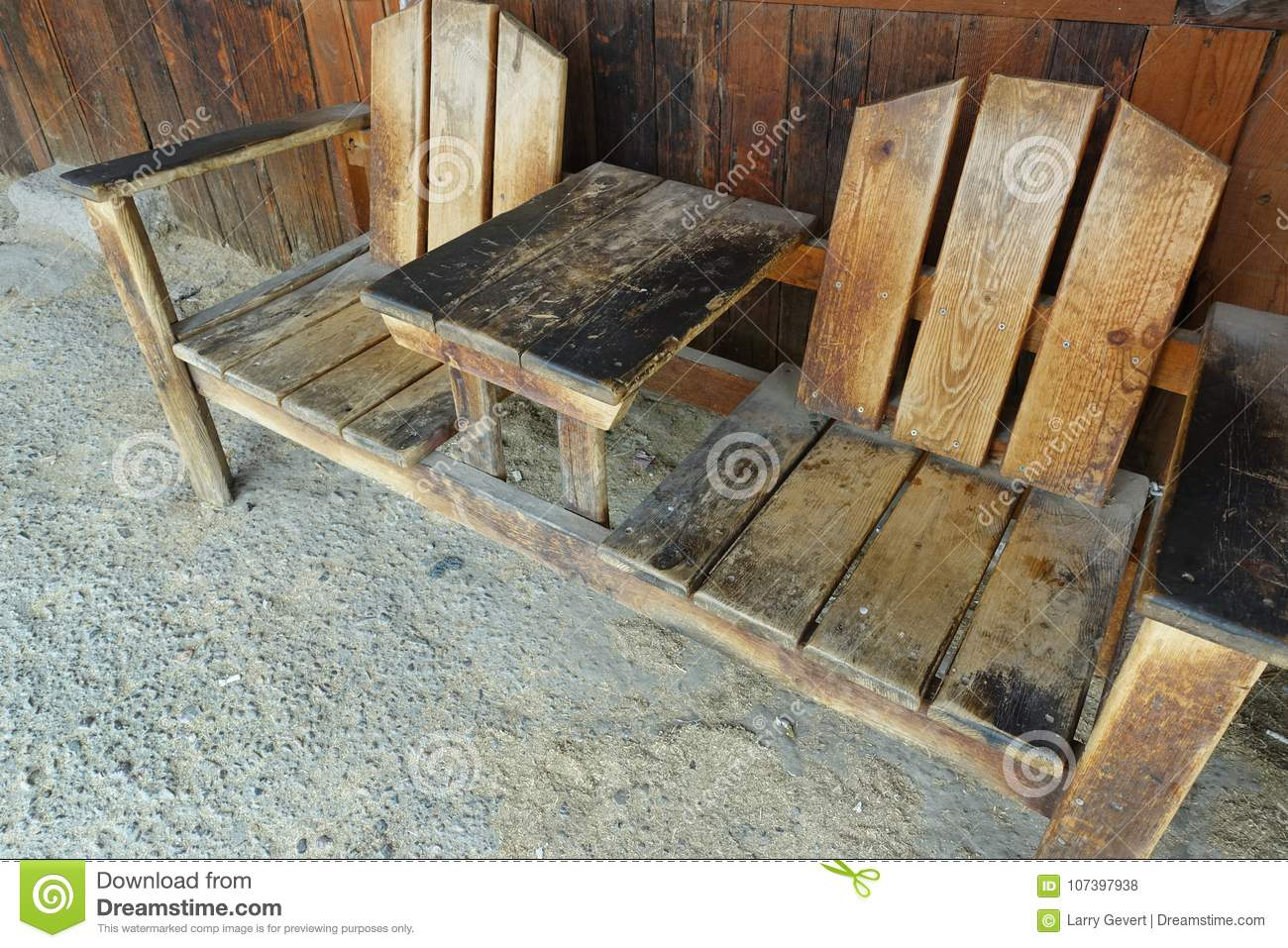 Western Chairs Well Worn Chairs Stock Photo Image Of Exterior Cottage 107397938