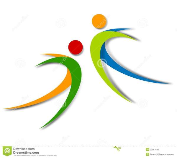 Wellness Abstract Logo Design Stock Illustration