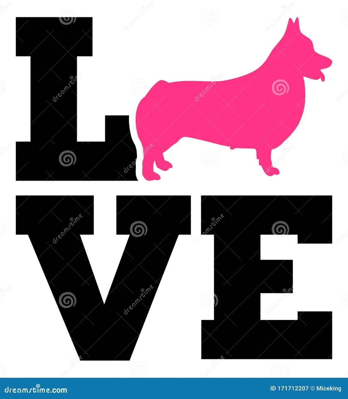 Download Welsh Corgi Pembroke love stock vector. Illustration of ...