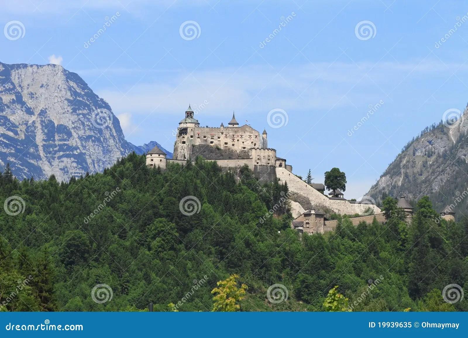 Werfen Castle Austria stock image Image of eastern  19939635
