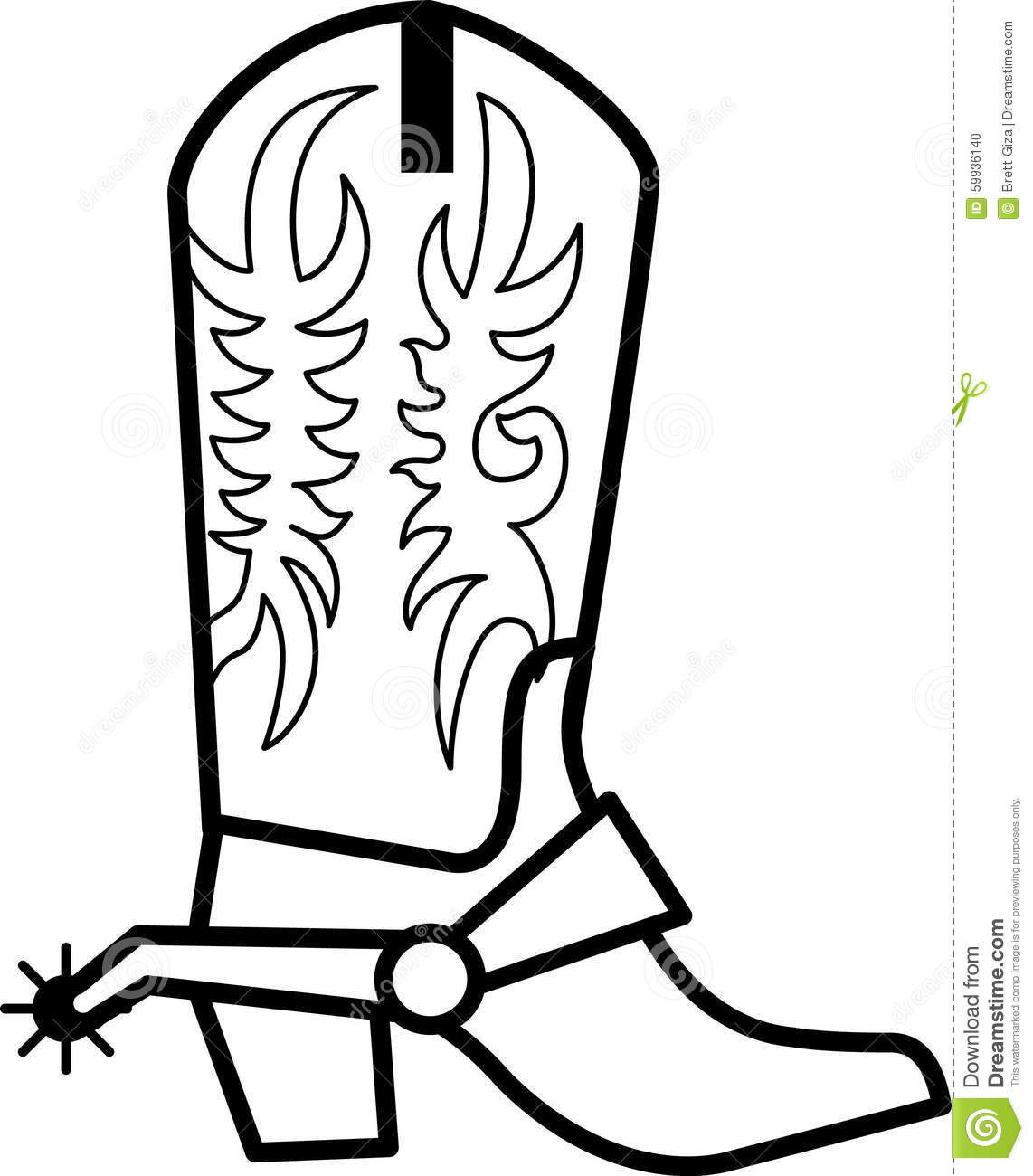 Cowboy Boot Outline