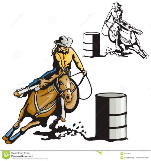 small resolution of vector illustration of a ladies barrel racing sport eps file available