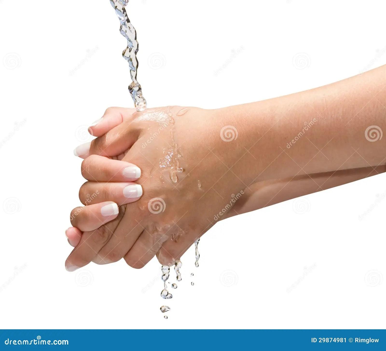 Washing Hands Isolated Stock Image