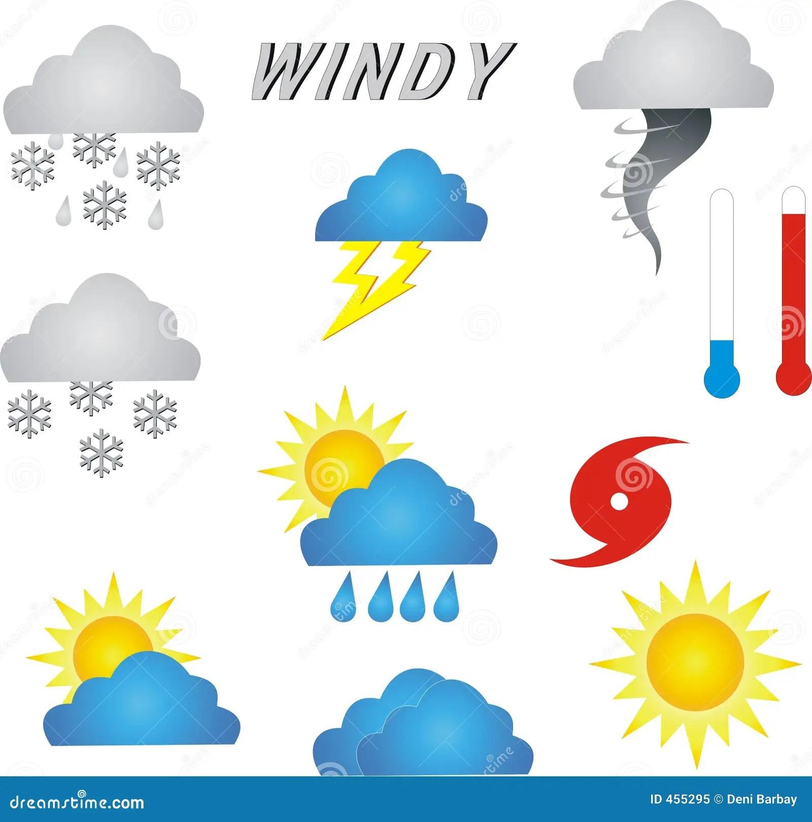 Wetter Symbole Stock Abbildung Illustration Von Temperatur