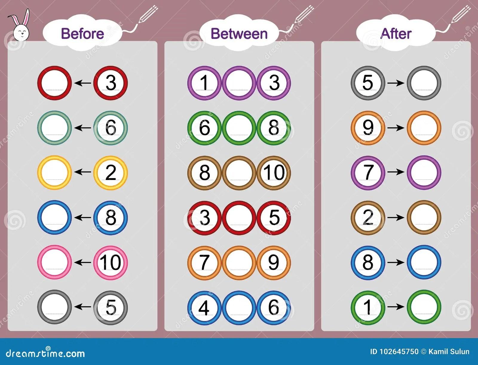 Arithmetic Worksheet For Preschoolers