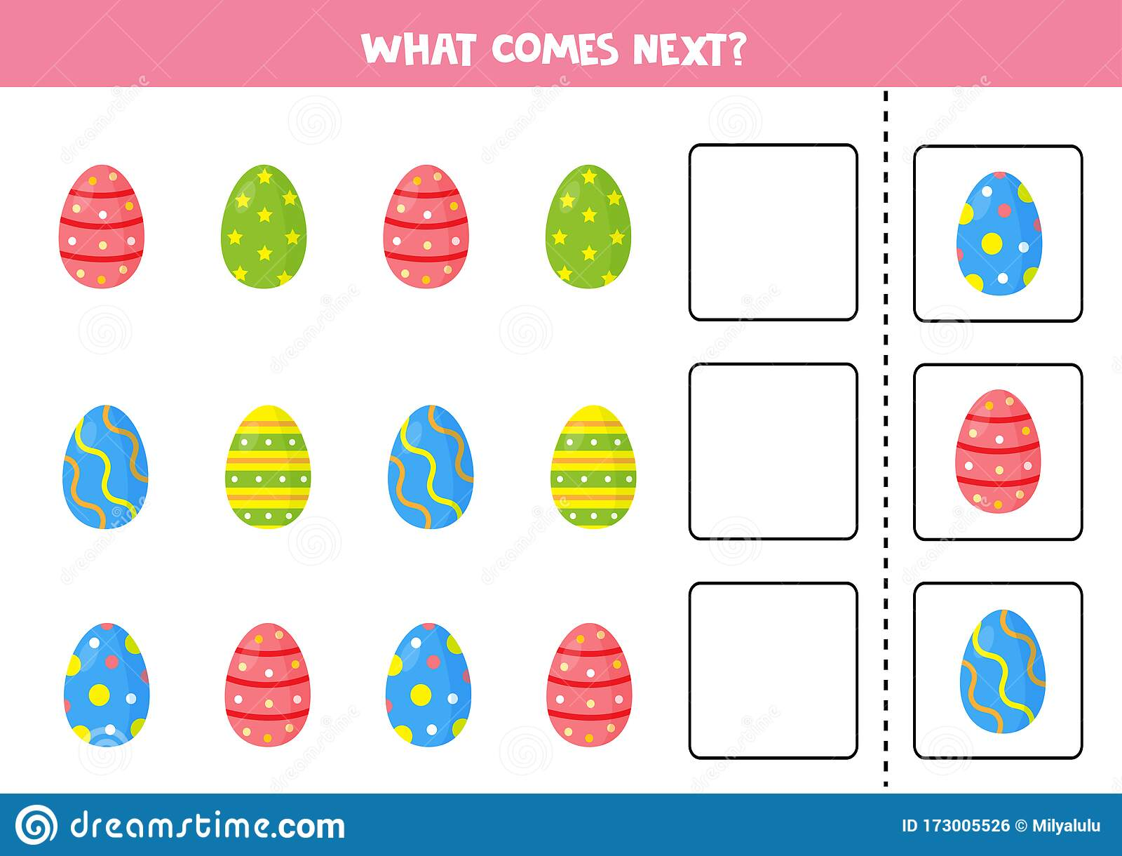 What Comes Next Sequence Game For Children Set Of Easter