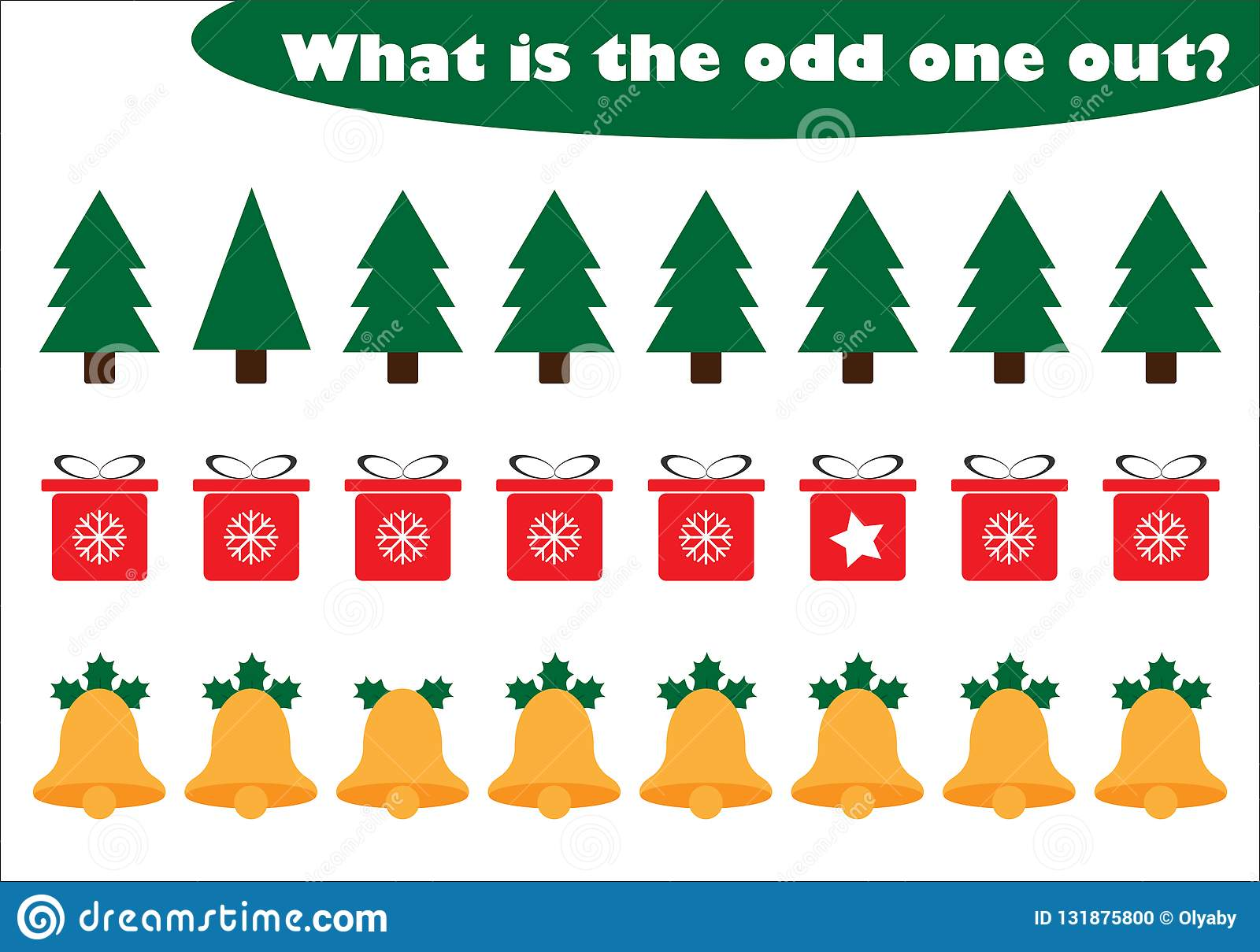 What Is The Odd One Out For Children Christmas Theme In