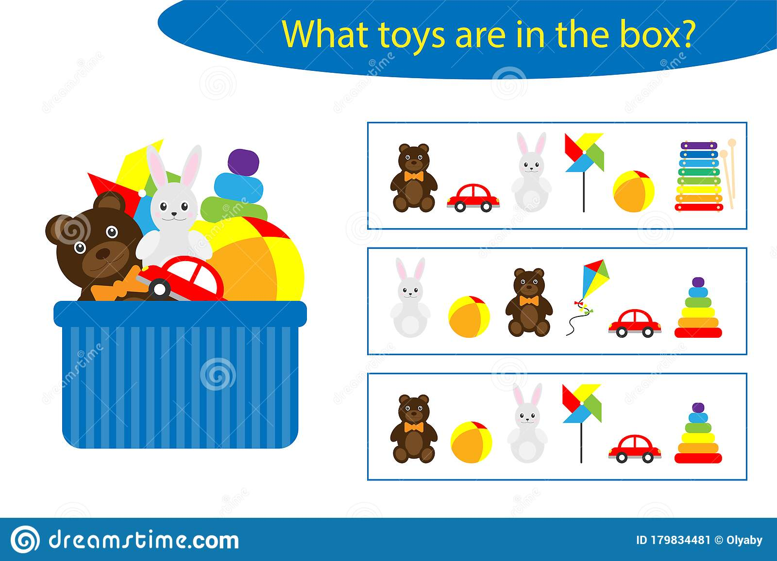 What Toys Are In The Box Game For Children In Cartoon