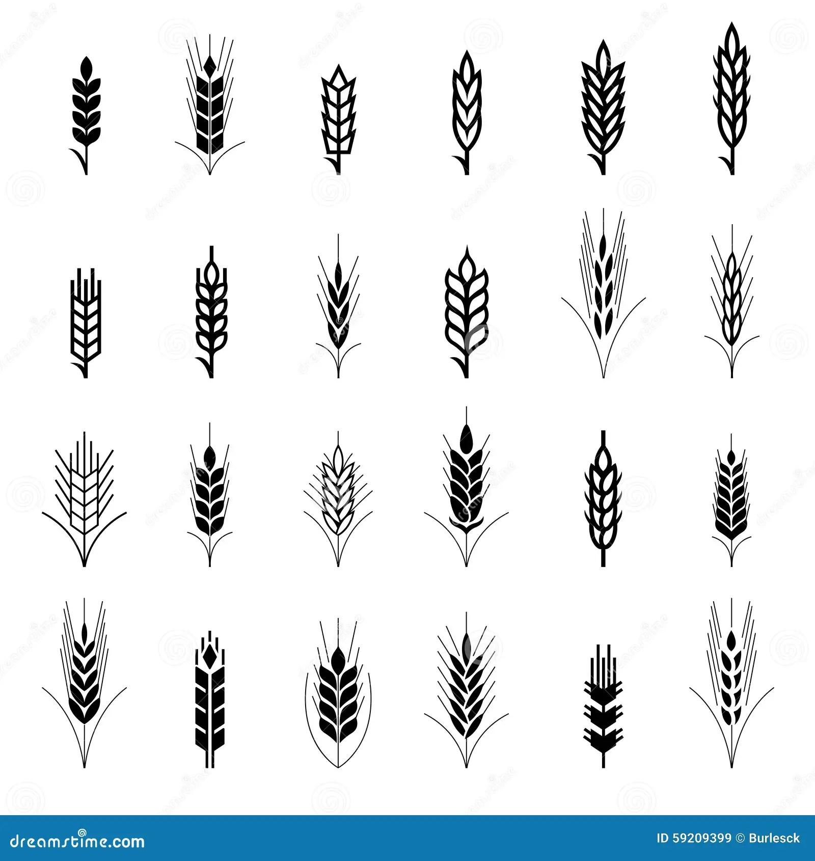 Wheat Ear Symbols For Logo Design Stock Vector