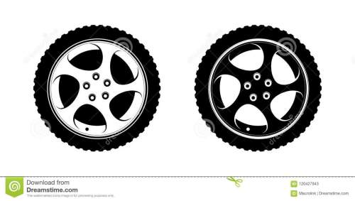small resolution of set of wheels clipart in white and black disks vector illustration for tire service or auto business decoration premium design of wheels on white