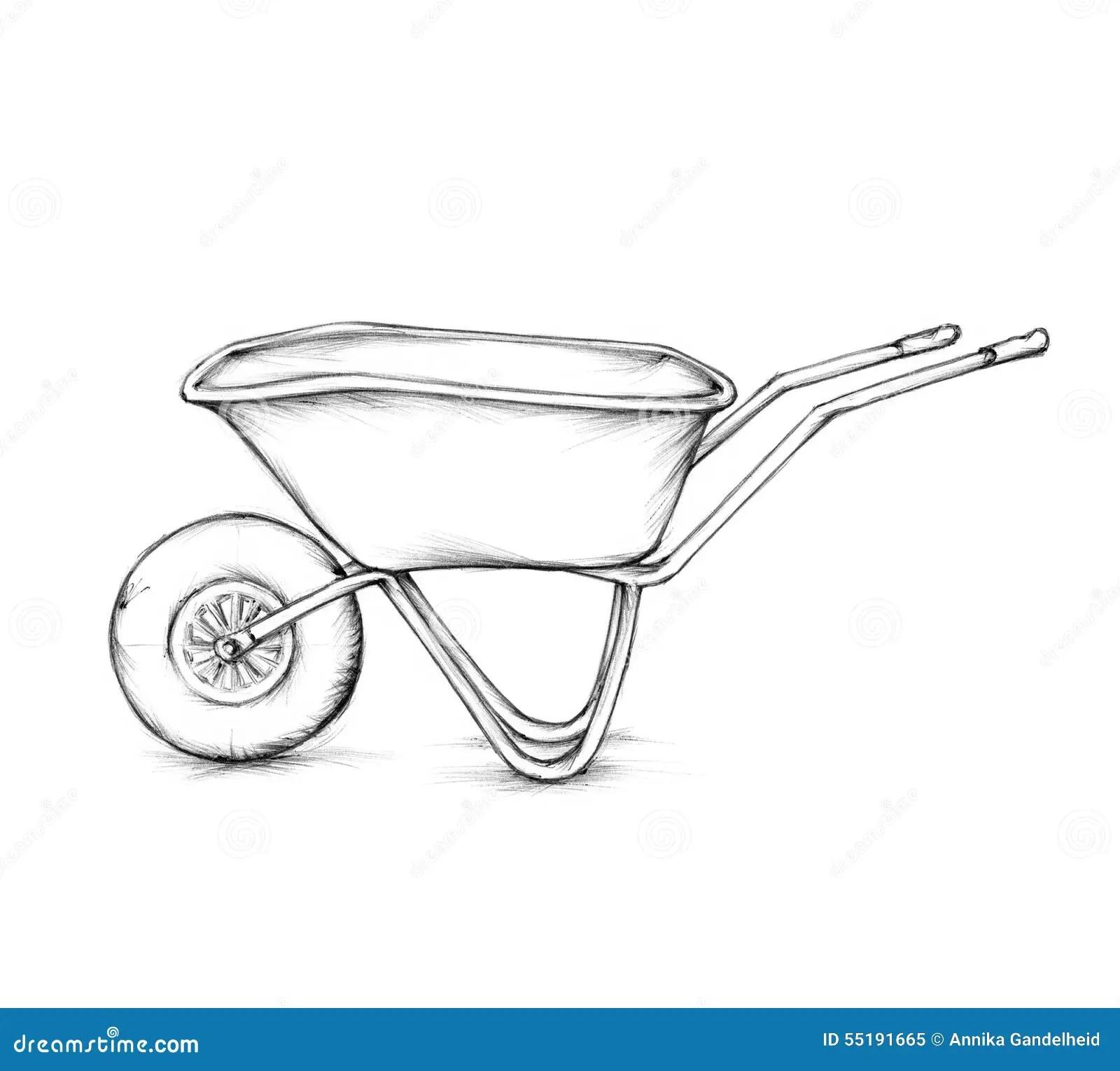 images How To Draw A Simple Wheelbarrow dreamstime com