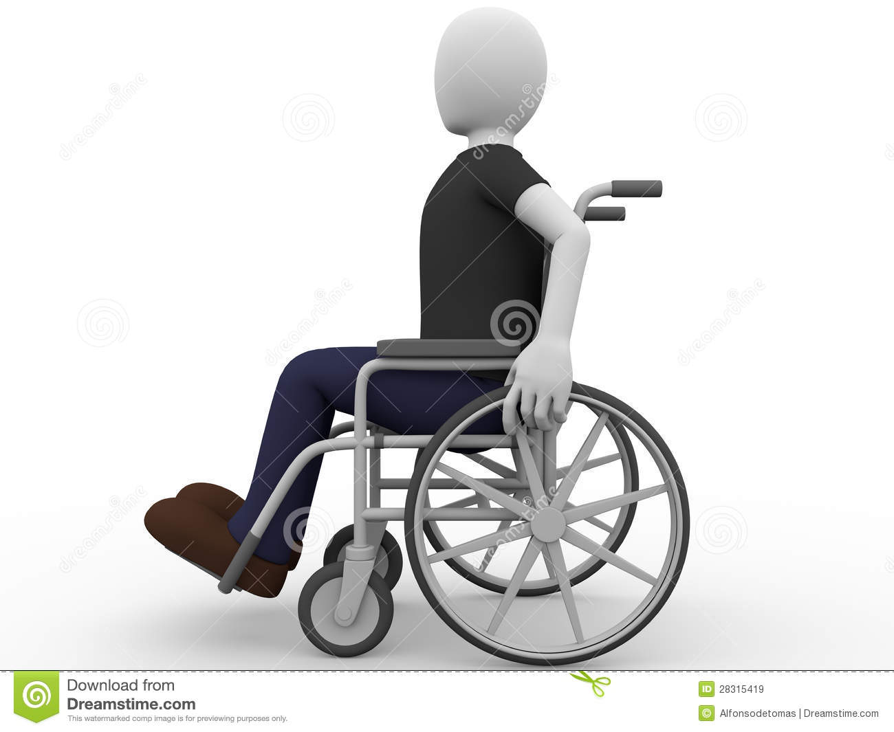wheelchair man mesh desk chair royalty free stock images image 28315419