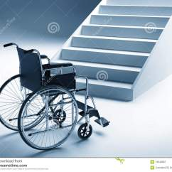 Wheelchair Up Stairs Sex Position Chair And Royalty Free Stock Photography
