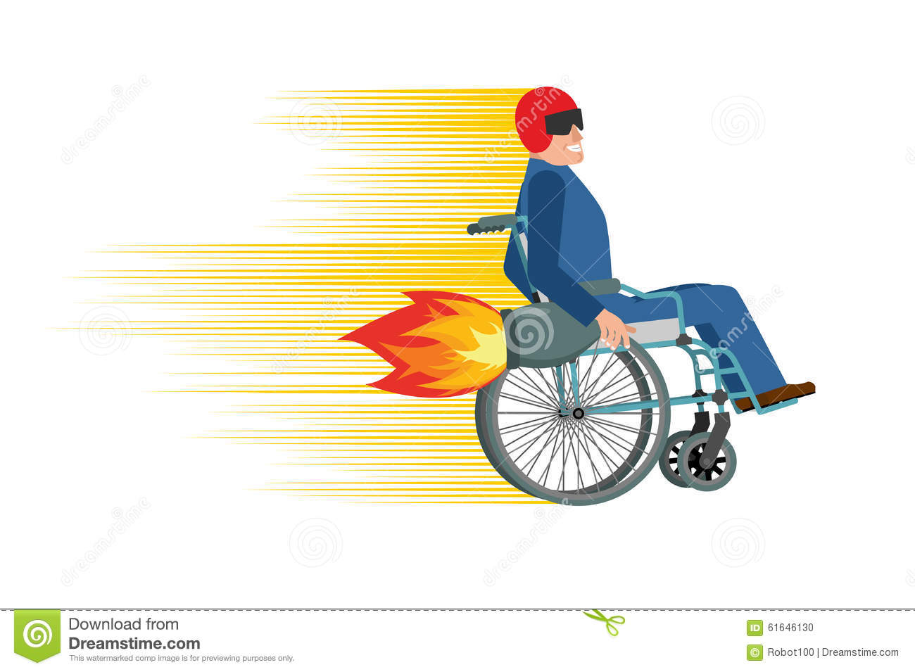 race car office chair la z boy delano big and tall executive chestnut wheelchair with turbo engine. disabled fast rides. man in stock vector - image: 61646130