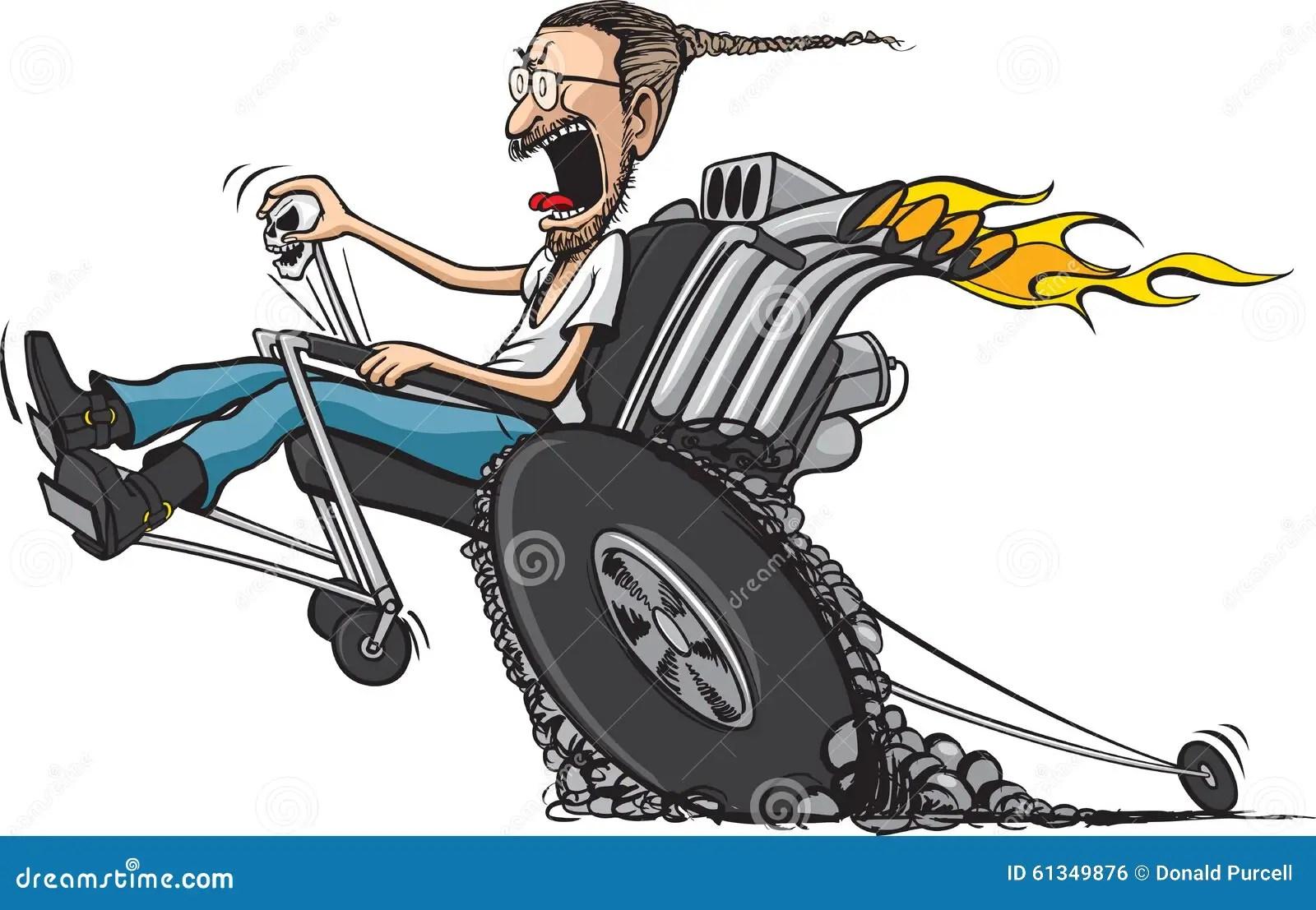 wheelchair hot wheels beach chairs and umbrella racing cartoon man vector