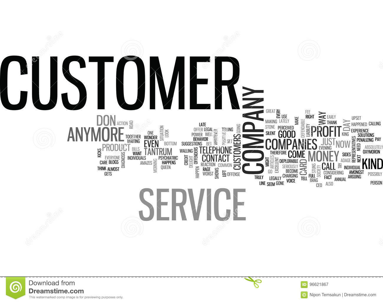 Where Has Customer Service Gone Word Cloud Stock