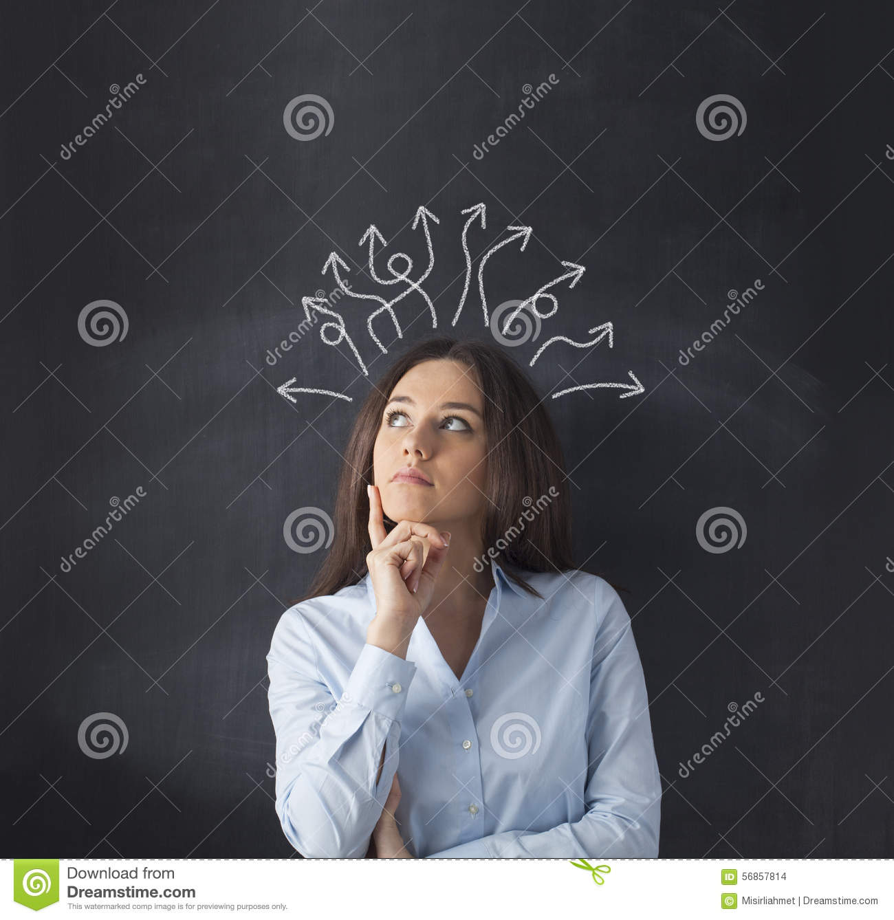 Which Way Should I Go Stock Illustration  Image 56857814