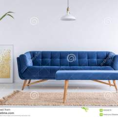 White And Blue Sofa Stores That Sell Beds Apartment With Stock Image Cartoondealer