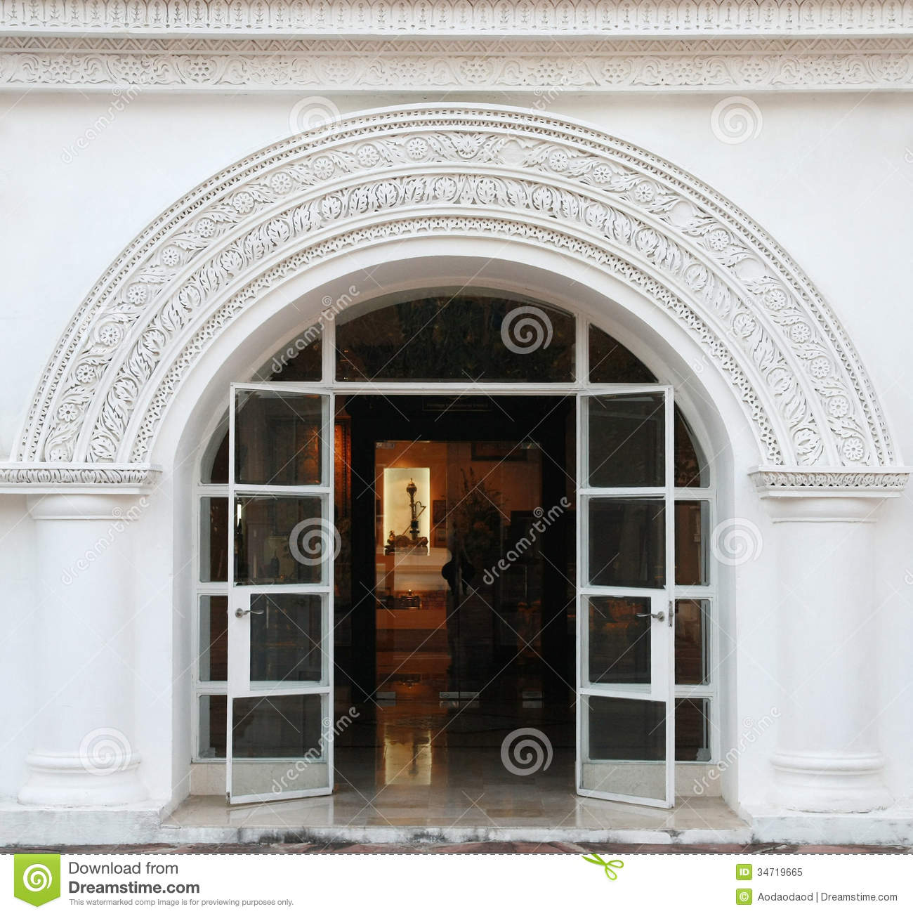 White Arch Classic Door Royalty Free Stock Photo Image 34719665