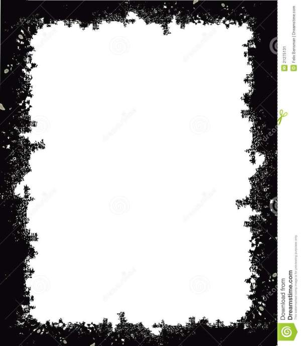 Black Frame with White Background
