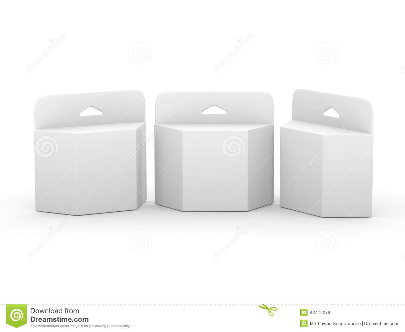 hight resolution of  white blank trapezoid box ink cartridge package with clipping p royalty free illustration
