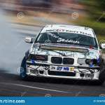 White Bmw E36 In A Speed Performance Editorial Photo Image Of Road Smoke 183679301