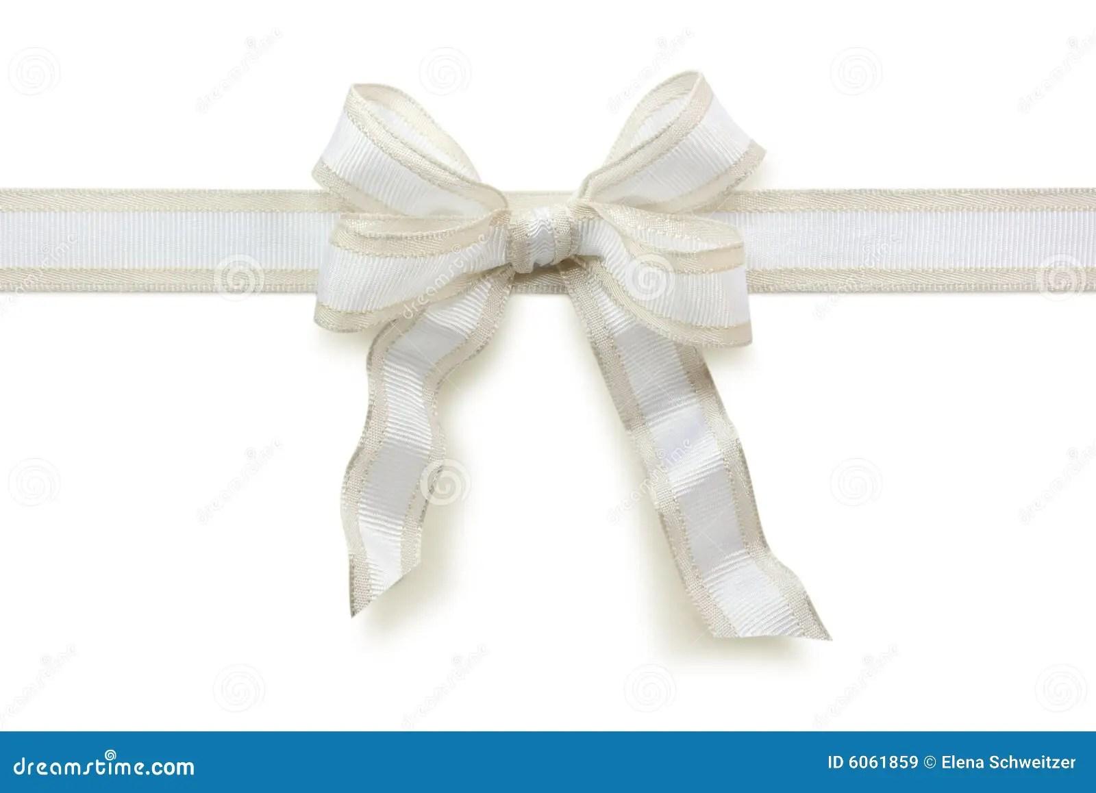 White Bow Royalty Free Stock Images Image 6061859