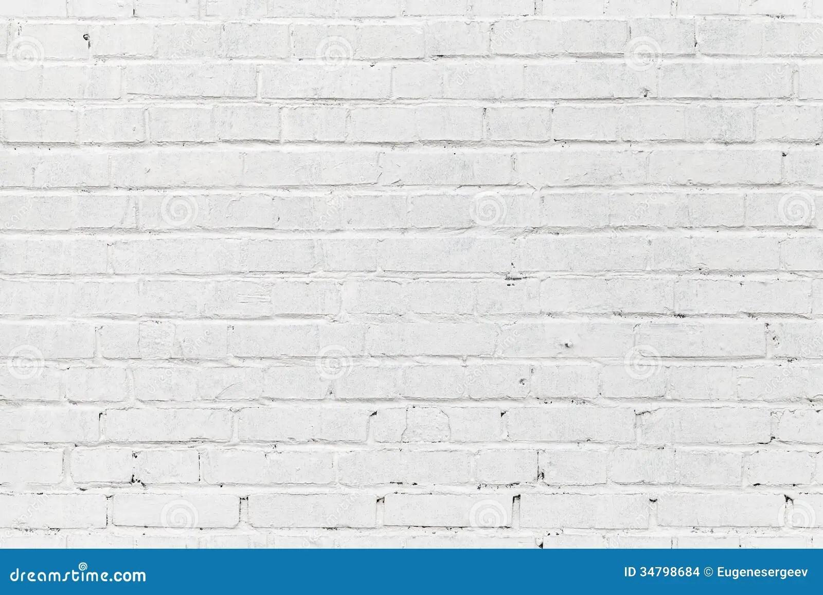White Brick Wall Seamless Photo Texture Stock Images