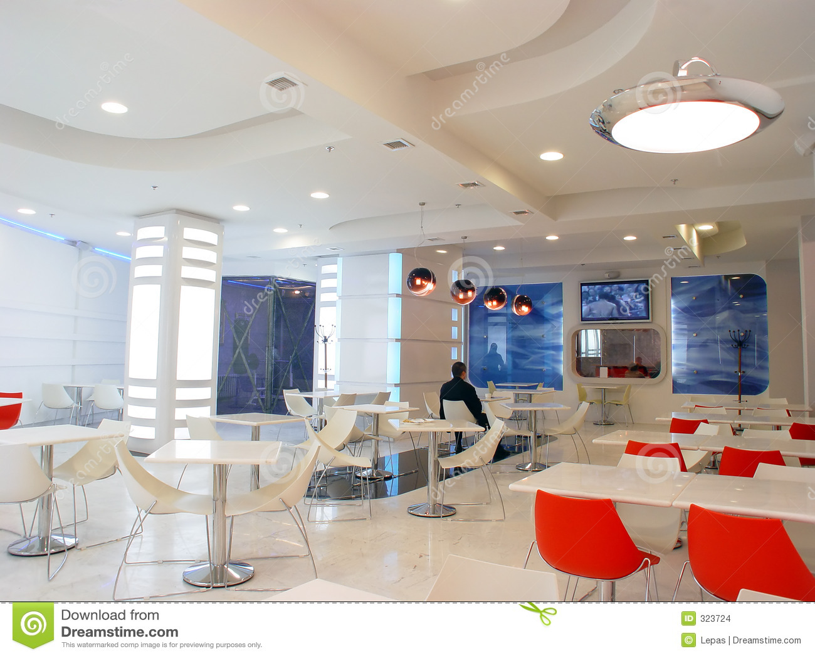 White Cafe Stock Images  Image 323724