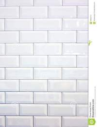 White Ceramic Tile Wall Stock Photo